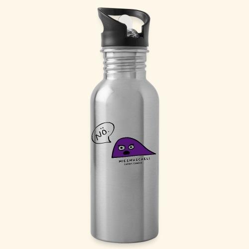 Miesmuscheli Nö. - Trinkflasche mit integriertem Trinkhalm