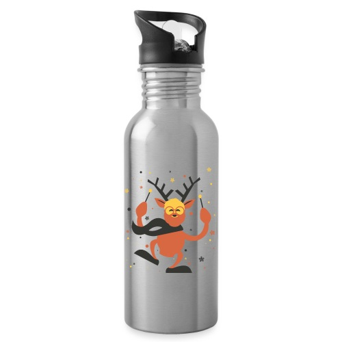 Oh Deer! - Water bottle with straw