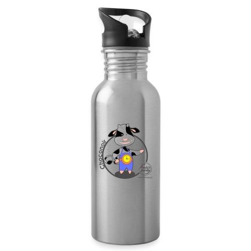 FF CHOCONOIR 02 - Trinkflasche mit integriertem Trinkhalm
