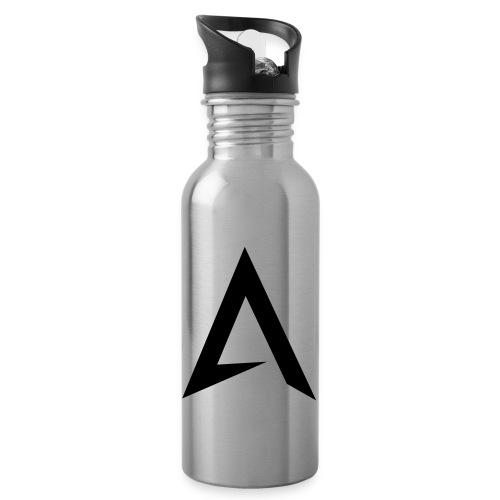 alpharock A logo - Water bottle with straw