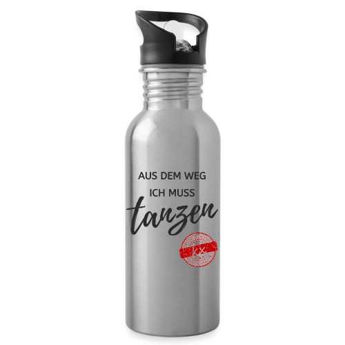 Aus dem Weg s - Trinkflasche mit integriertem Trinkhalm