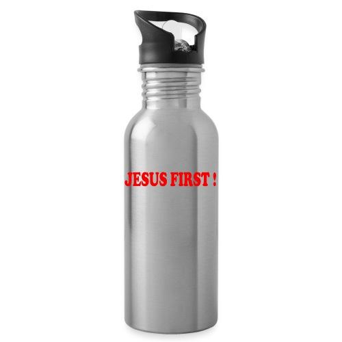 jesus first - Gourde avec paille intégrée