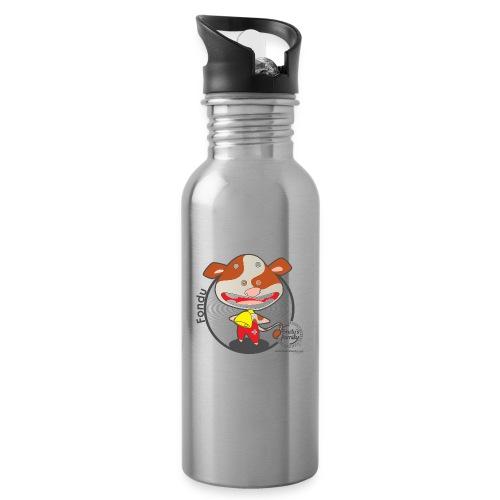 FF FADE 02 - Trinkflasche mit integriertem Trinkhalm