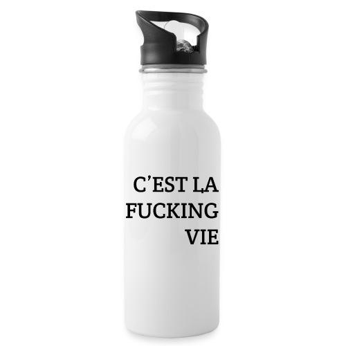 C'est la FUCKING vie - Drinkfles met geïntegreerd rietje