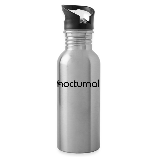 Nocturnal Black - Water bottle with straw