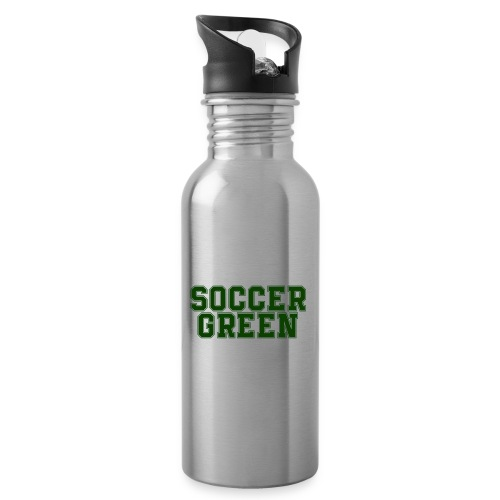 Soccer Green Style Text - Borraccia con cannuccia integrata
