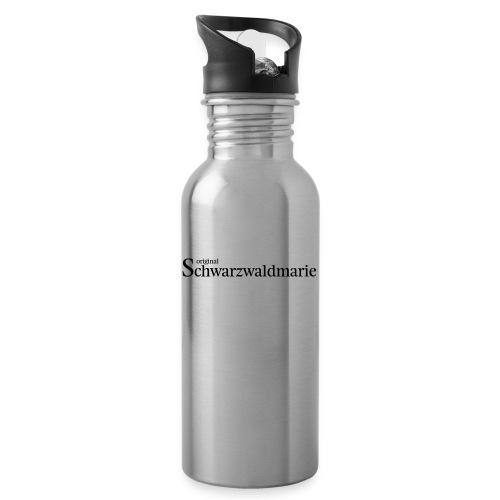 Schwarzwaldmarie - Trinkflasche mit integriertem Trinkhalm