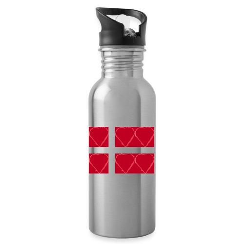 Dänemark 21.2 - Trinkflasche mit integriertem Trinkhalm