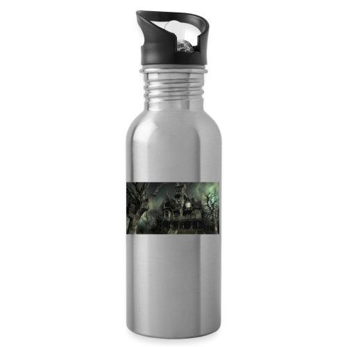 Casa embrujada - Botella cantimplora con pajita integrada
