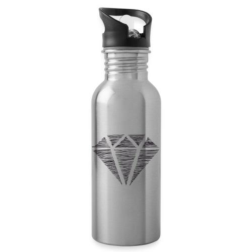 Diamante - Botella cantimplora con pajita integrada