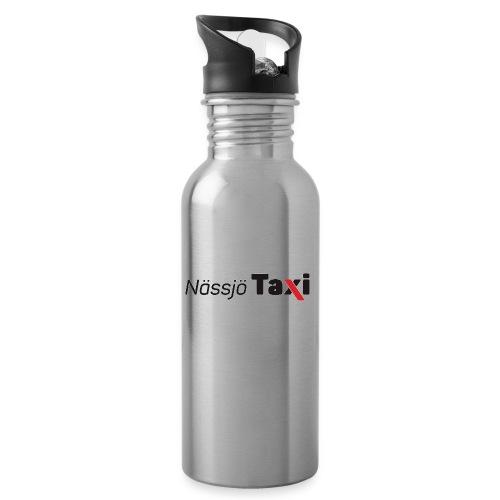 Nässjö taxi tryck - Vattenflaska med integrerat sugrör