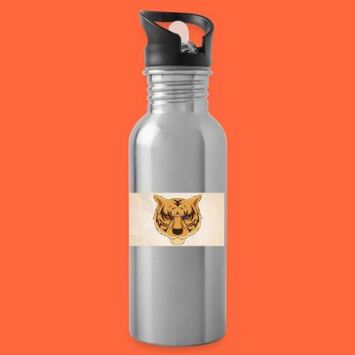 Fuzzy Tigers - Drikkeflaske med integrert sugerør