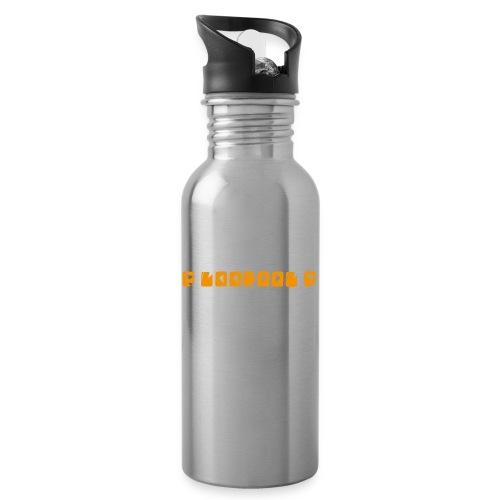 P loofool P - Orange logo - Drikkeflaske med integrert sugerør