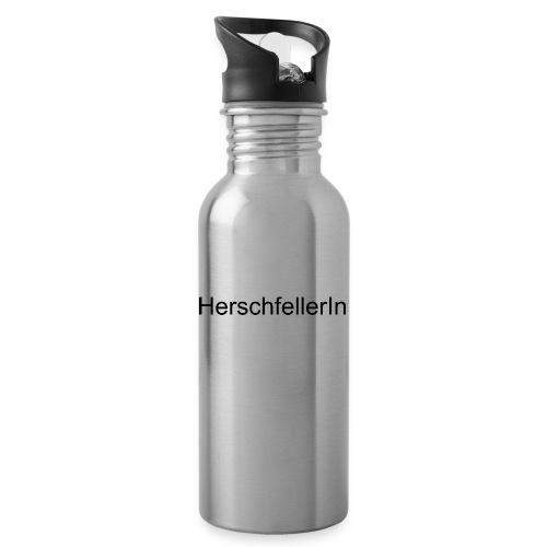 Herschfellerin - Hersfeld - Hersfelderin - Trinkflasche mit integriertem Trinkhalm