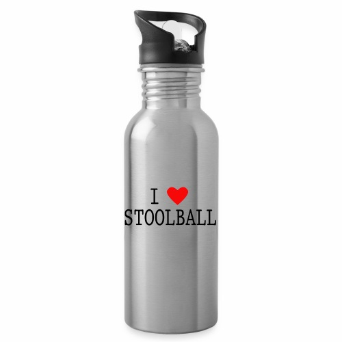 I Love Stoolball - Water bottle with straw