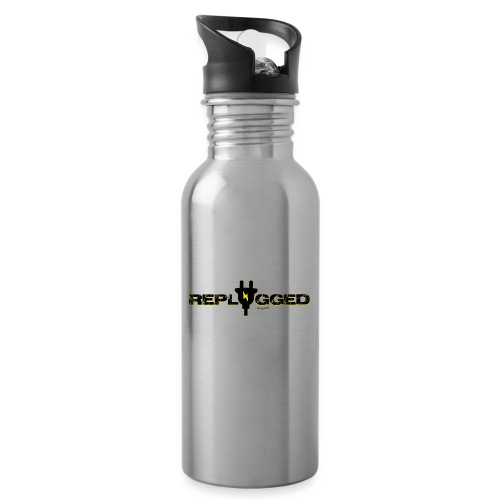 Replugged Singles - Clip Art Black - Water bottle with straw
