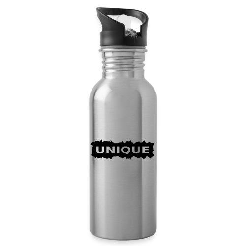 unique - Trinkflasche mit integriertem Trinkhalm