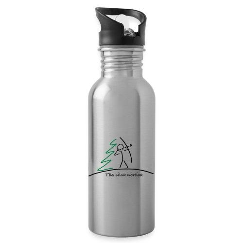 Logo TBS silva nortica - Trinkflasche mit integriertem Trinkhalm