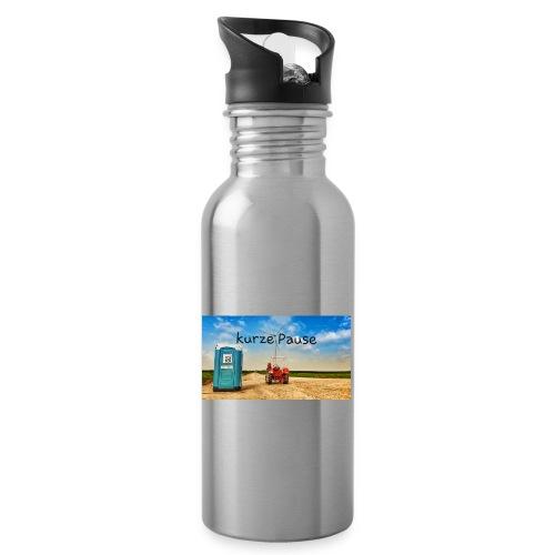 kurze Pause - Trinkflasche mit integriertem Trinkhalm