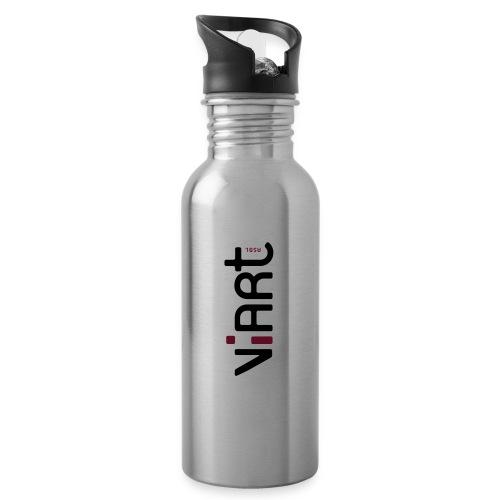 ViArt asbl Logo - Trinkflasche mit integriertem Trinkhalm