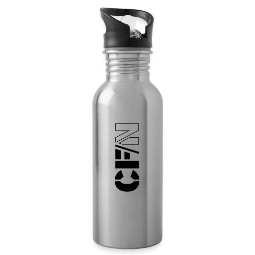 CFN White Grey - Vattenflaska med integrerat sugrör