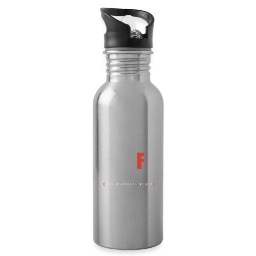 Shift Happens red F - Trinkflasche mit integriertem Trinkhalm