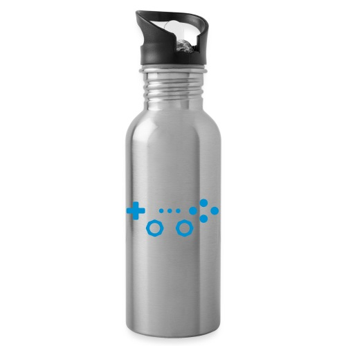 Classic Gaming Controller - Water bottle with straw