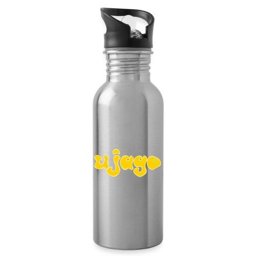 ujago gelb - Trinkflasche mit integriertem Trinkhalm
