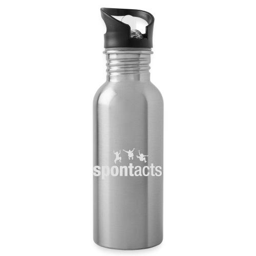 spontacts_Logo_weiss - Trinkflasche mit integriertem Trinkhalm