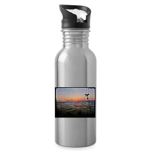 SV Argo - Öresund Bridge sunrise - Water bottle with straw