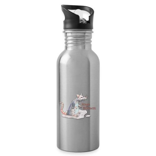 Rat - Trinkflasche mit integriertem Trinkhalm