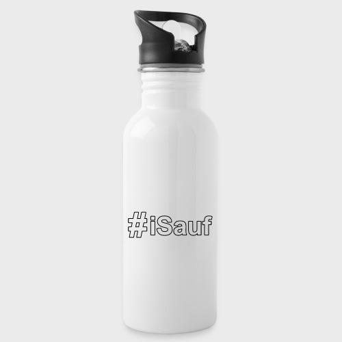 Hashtag iSauf klein - Trinkflasche mit integriertem Trinkhalm