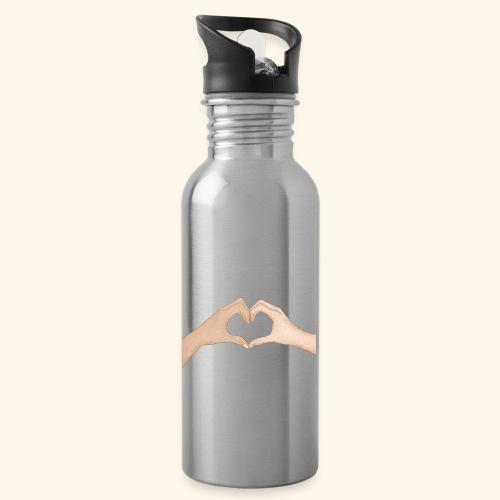 Mains Coeur Amour - Love hands - Gourde avec paille intégrée