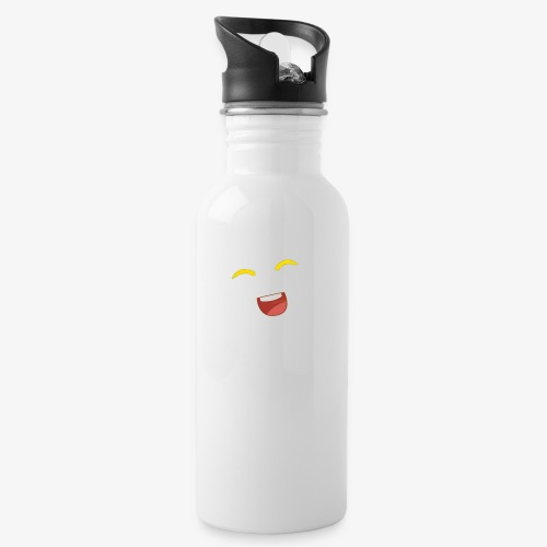 banana - Water bottle with straw
