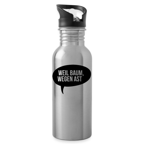 weil Baum wegen Ast - Trinkflasche mit integriertem Trinkhalm