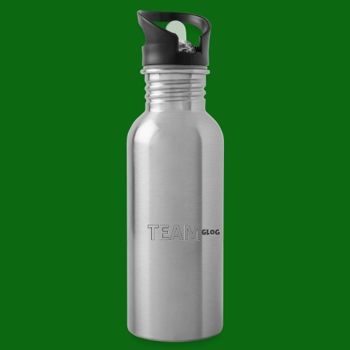 Team Glog - Water bottle with straw