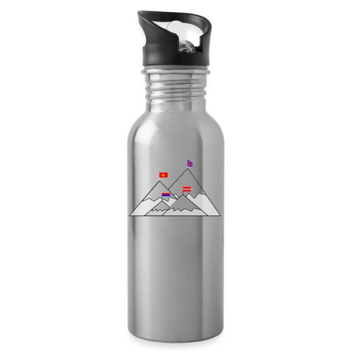 2018 W inter hash logo - Water bottle with straw