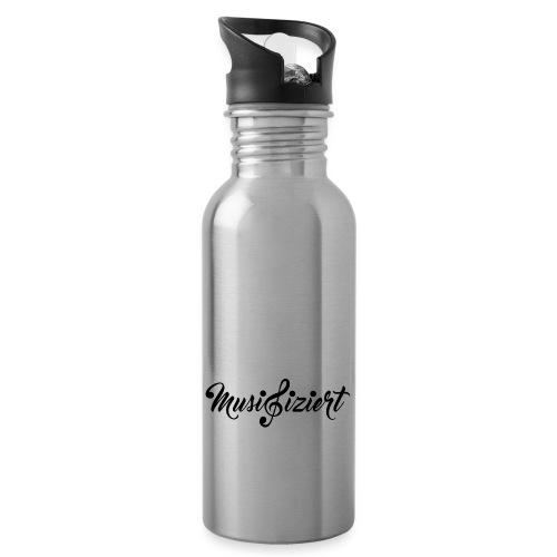Musifiziert - Trinkflasche mit integriertem Trinkhalm
