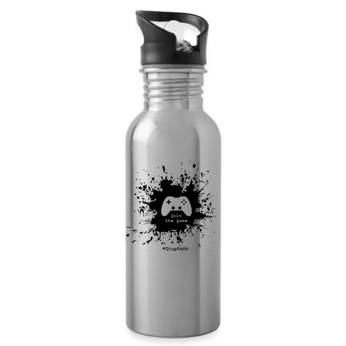 Join the game - Water bottle with straw