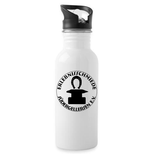 big erlebnisschmiedelogo - Trinkflasche mit integriertem Trinkhalm