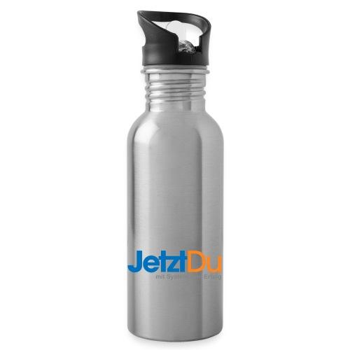 JetztDuLogo ArtWork1 - Trinkflasche mit integriertem Trinkhalm