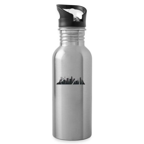 Streetball Skyline - Street basketball - Water bottle with straw