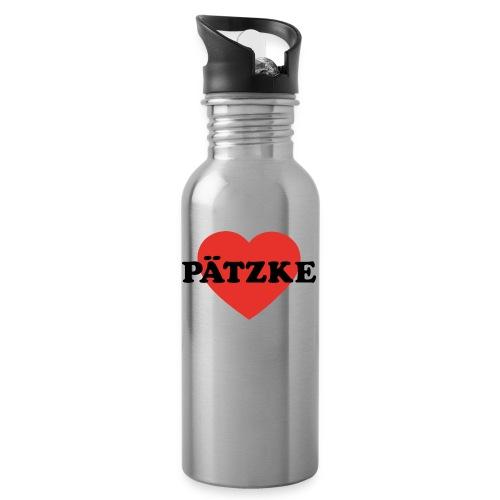 Pätzke - Trinkflasche mit integriertem Trinkhalm