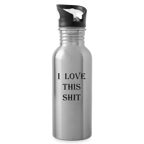 I Love this Shit - Botella cantimplora con pajita integrada