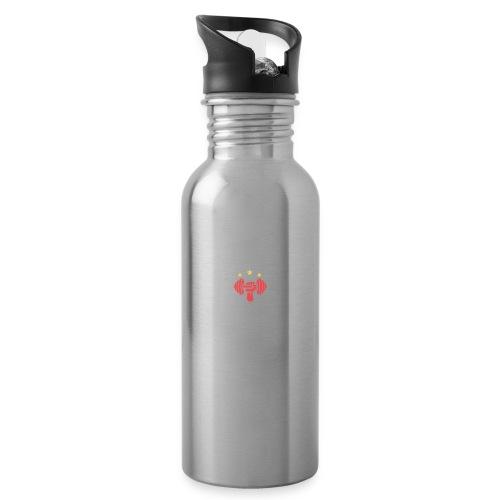Burki Personal Training - Trinkflasche mit integriertem Trinkhalm