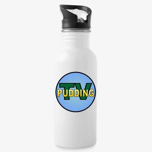 Pudding-TV Logo - Drikkeflaske med integrert sugerør