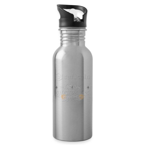 Safecoin Think Outside the Blocks (white) - Water bottle with straw