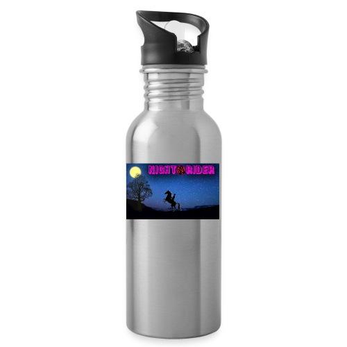 nightrider merch - Drikkeflaske med integreret sugerør