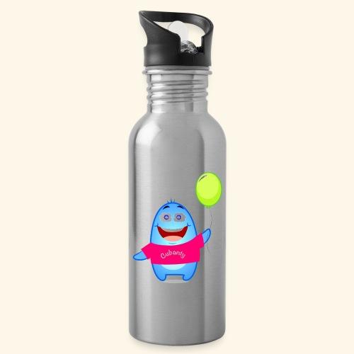 Cubanty mit Ballon - Trinkflasche mit integriertem Trinkhalm