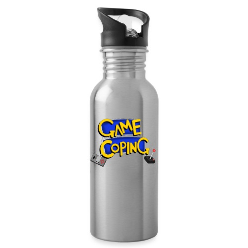 Game Coping Logo - Water bottle with straw